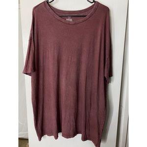 NWOT AERIE Boyfriend Distressed Oversized Tshirt